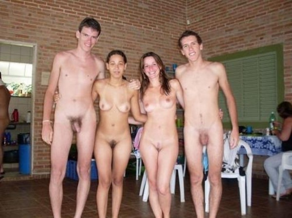 Naked groups of friends #4